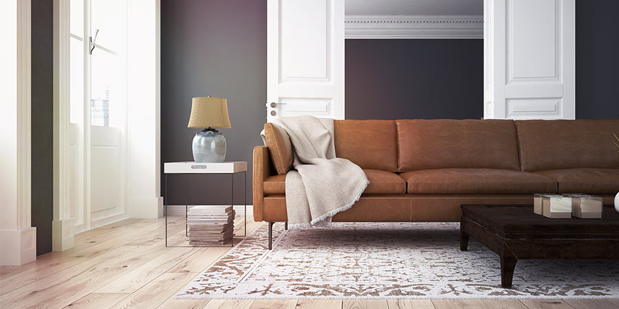 Neutral Paint Color in a Modern Living Room