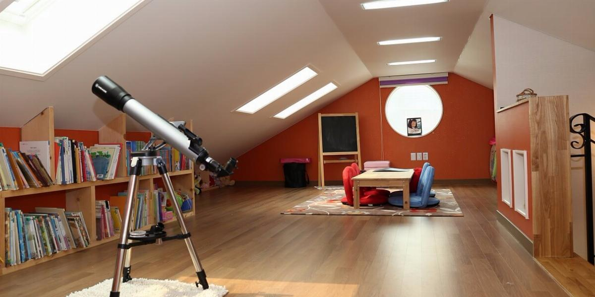Image of an Attic Converted Into a Finished Room