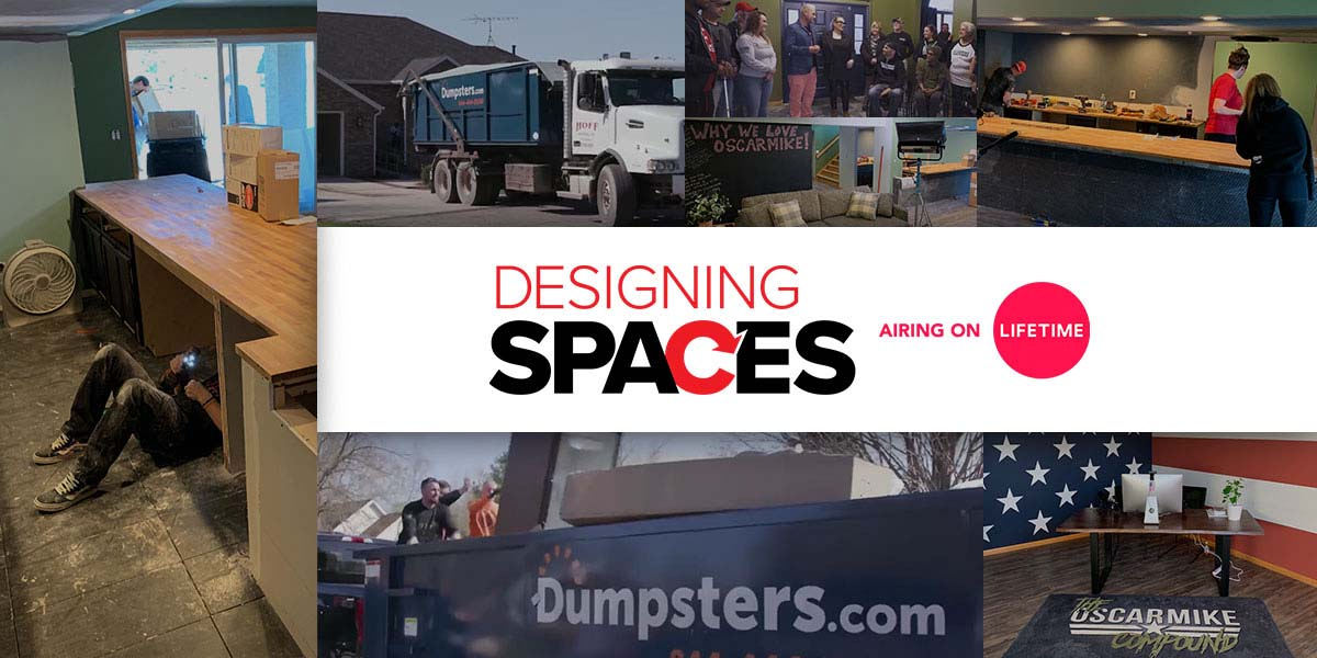 Designing Spaces Logo Over Images From Renovations During the Show.
