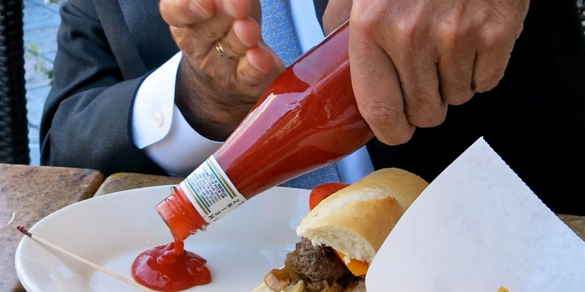 LiquiGlide used in a ketchup bottle.