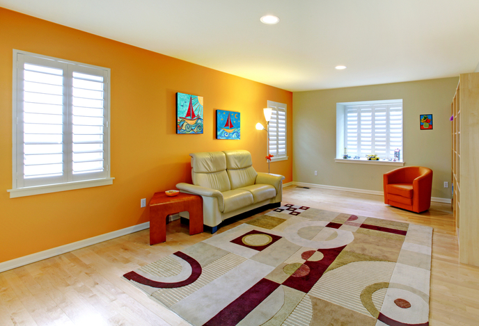 Orange Living Room Effects on Mood