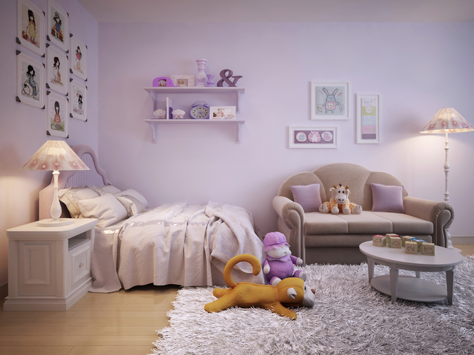 Purple Children's Bedroom and Mood