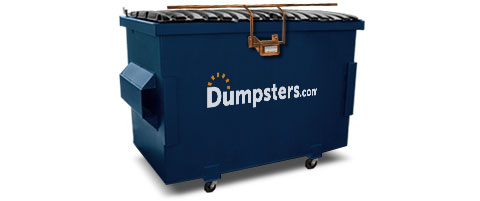 Commercial Dumpster With Lock Bar And Wheels