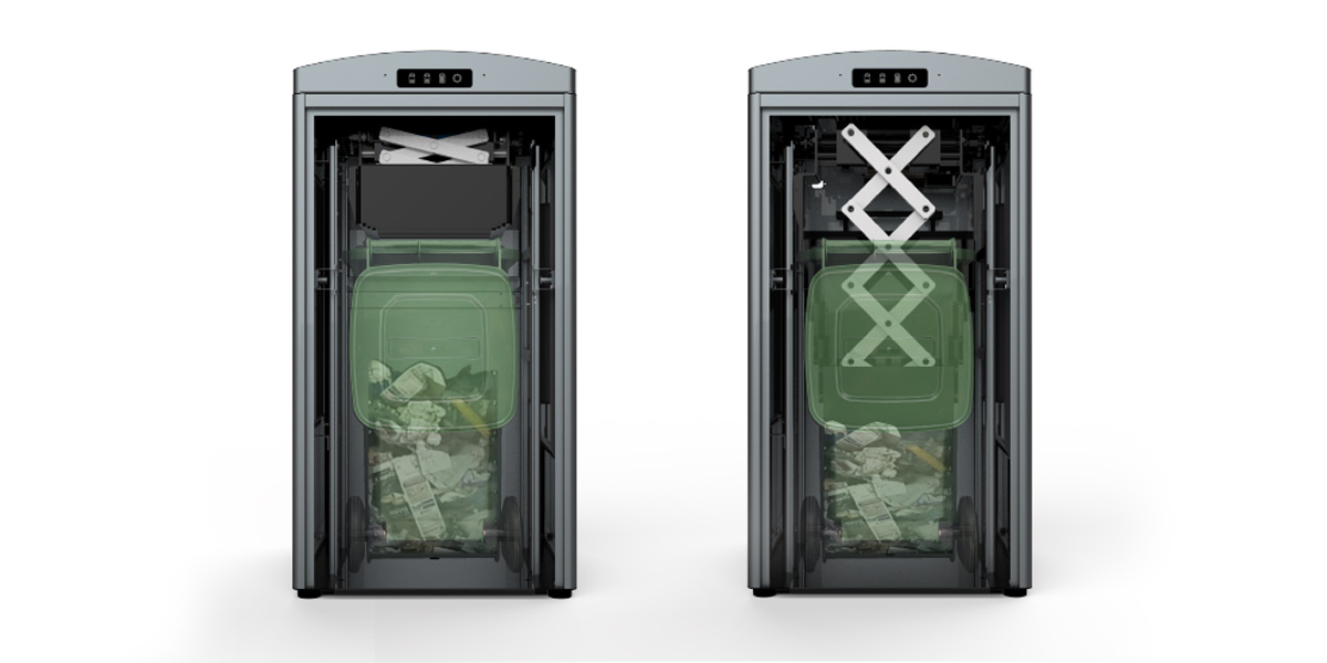 Ecube Labs Solar Powered Trash Compactor