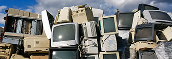 old computer monitors and other e-waste