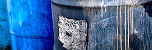 hazardous waste barrels