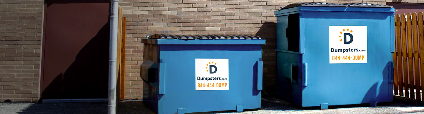 Commercial dumpster sizes.
