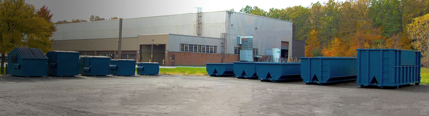 Commercial and temporary dumpsters.