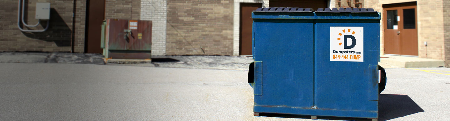 Front load dumpster for corporate waste.