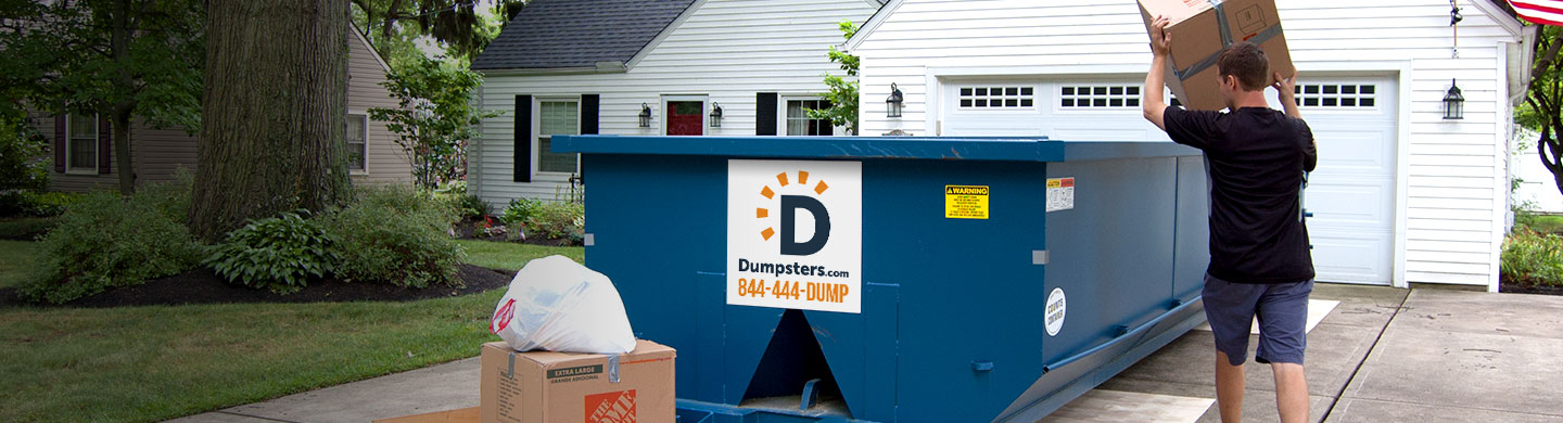 Roll off dumpster for junk removal.