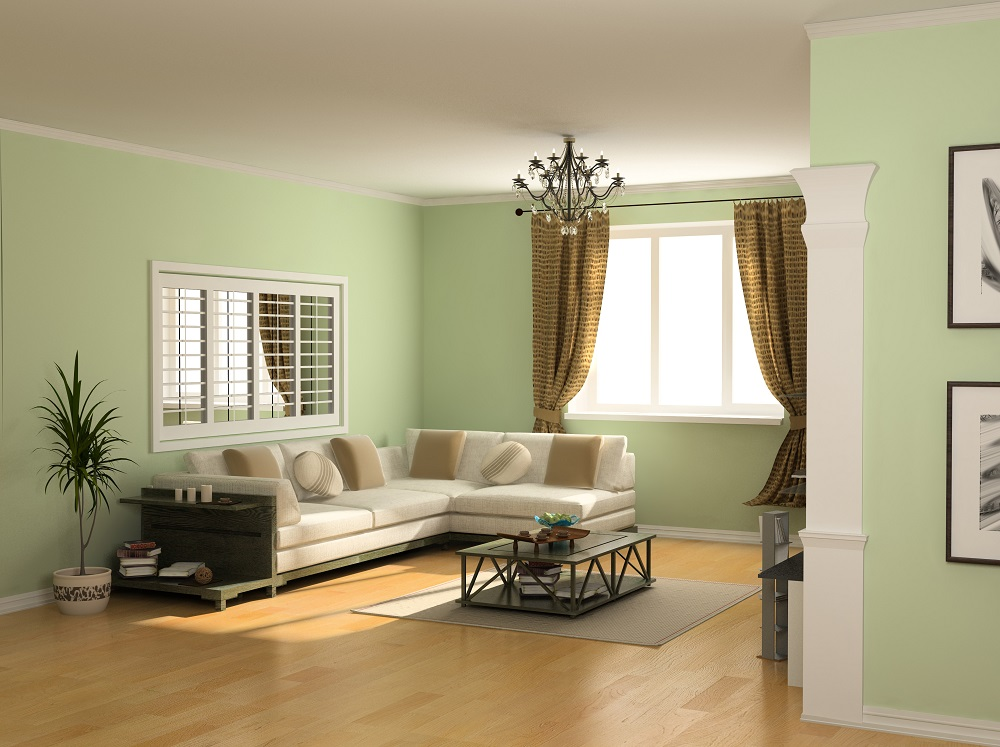 Neutral Living Room Paint Color.