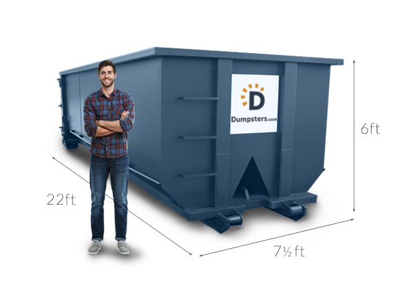 30 yard roll off dumpster dimensions