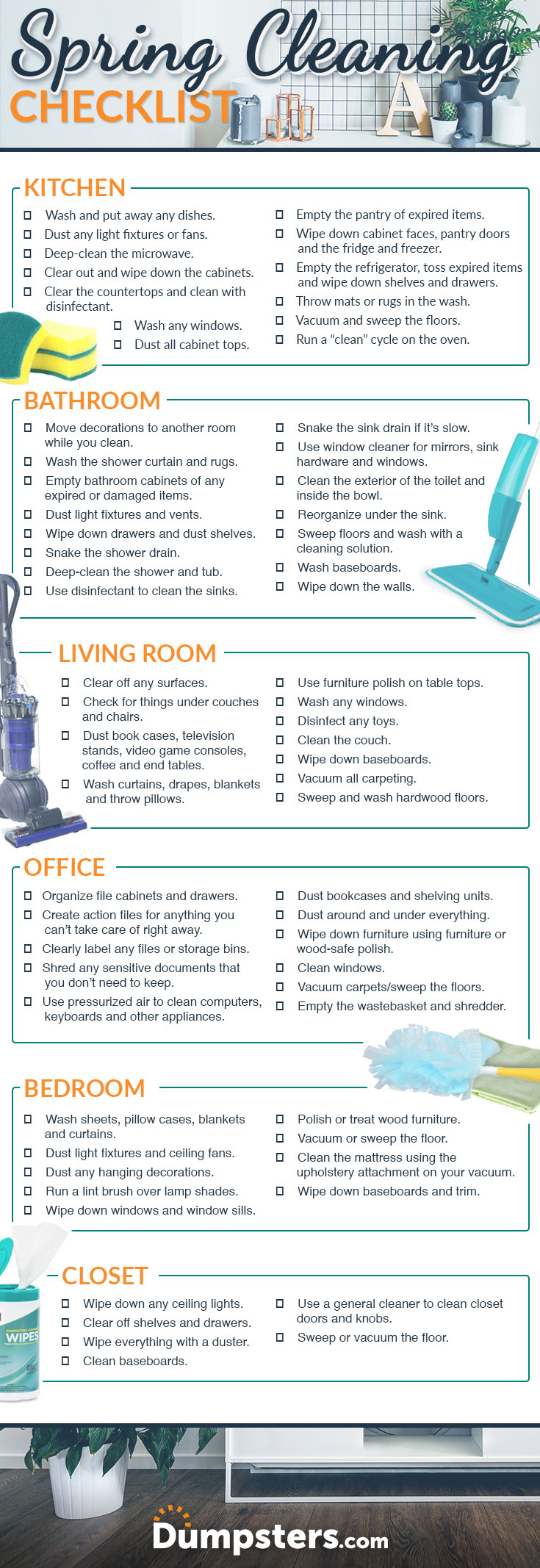 Room By Room Spring Cleaning Checklist