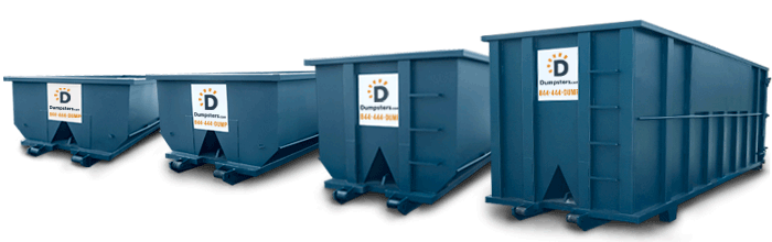 dumpster rental sizes picture